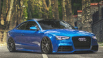 Обои Синяя Audi A5 S-line 3. 0 на дороге