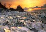 Обои Лед Байкала под солнечным небом. Фотограф Гордеев Эдуард