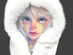 Обои Голубоглазый ребенок в меховой шапке, by Sk011