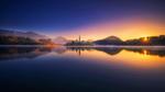 Обои Раннее осеннее утро на озере Блед, фотограф roberto pavic