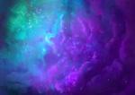 Обои Голубые и фиолетовые облака на небе