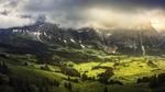 Обои Село Гриндельвальд / Grindelwald, Швейцария / Switzerland, фотограф Brock Whittaker