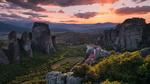 Обои Монастыри Метеоры среди скал, Греция / Greece, фотограф Elia Locardi