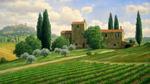 Обои Усадьба на холме в Тоскане / Toscana, Италия / Italy, художник Mark Pettit