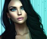 Обои Портрет девушки с голубыми глазами