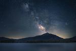 Обои Млечный путь на небе над озером Диллон, фотограф Брок Уиттакер