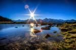 Обои Восход солнца над озером, Аgina, Goms, Schweiz / Эгина, Гомес, Швейцария, фотограф imhof patrick