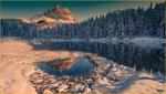 Обои Зимний лес отражается в воде, фотограф Stefano Crea