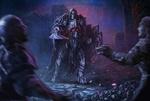 Обои Варвар-привидение - неспокойный Дух невинно убит, воскресший из могилы, чтобы отомстить своим убийцам, by Edikt Art