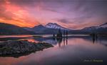 Обои Восход солнца на озере, фотограф Simon W Xu