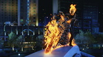Обои Ghost Rider / Призначный гонщик на мосту (кадр из фильма)