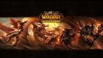 Обои Обои игры World of Warcraft (девушка, драконы и монстры в огне)