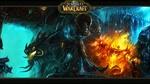 Обои Воин, дракон и горящий замок из игры World of Warcraft