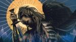 Обои Девушка-ангел с мечом в руке