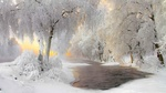Обои Зимний пейзаж возле Кухмо, Финляндия, фотограф Tianwen CHEN