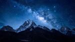 Обои Млечный Путь над Гималайским пиком Ама Даблам в Непале, фотограф Tianwen CHEN