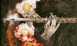 Обои Флейта в руках вампира и цветы в крови