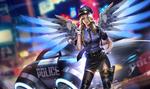 Обои Mercy / Ангел / Angela Ziegler / Ангела Циглер из игры Overwatch / Дозор (Police / Полиция), by Liang-Xing