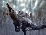Обои Спинозавр под тропическим ливнем, by Herschel Hoffmeyer