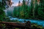 Обои Бурная речка, протекающая сквозь лес, Skykomish, USA / Скайкомиш, США, фотограф KEVIN RUSSELL