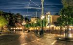 Обои Ночной вид улицы на окраине Anaheim, USA / Анахайма, США, by Justin Brown