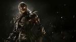 Обои Scarecrow / Страшила на фоне летающих огненных искр, из игры Injustice 2 / Несправедливость 2
