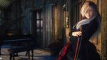 Обои Девушка со скрипкой, by LaMuserie