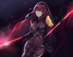Обои Анимэ-персонаж из серии Fate, девушка в обтягивающем костюме