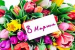 Обои Красивый букет разноцветных тюльпанов на Международный Женский день 8 марта