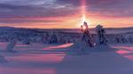Обои Яркое солнце над зимней природой, фотограф Jоrn Allan Pedersen