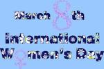 Обои Открытка с надписью 8 march, Womans Day / 8 марта, Международный женский день