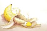 Обои Желтая птичка и банан