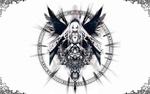 Обои Суйгинто / Suigintou из аниме Девы Розена / Rozen Maiden в магическом круге и вензеля