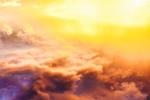 Обои Зарево над облаками