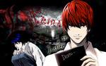 Обои Лайт Ягами / Light Yagami и Л Лоулайт / L Lawliet из аниме Тетрадь смерти / Death Note (KIRA / КИРА / Thirteen Days / Тринадцать дней / I am Justice / Я - правосудие)