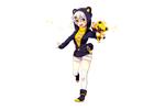 Обои Девочка -аниме с желтой плюшевой игрушкой