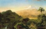 Обои South american landscape / Южно-американский пейзаж, 1856г, художник Frederic Edwin Church