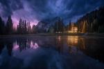 Обои Озеро Antorno / Анторно в ночное время, фотограф Carlos F Turienzo