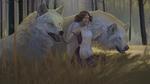 Обои Принцесса Мононокэ Сан / San с волками, из аниме Princess Mononoke / Принцесса Мононоке / Mononoke Hime, by Aivoree