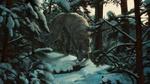 Обои Волк в зимнем лесу, by Aivoree