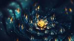 Обои Фрактальные узоры в виде огня на цветке