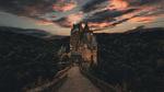 Обои Замок Эльц / Eltz на закате солнца, Германия / Germany