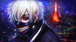 Обои Ken Kaneki / Кен Канеки из аниме Tokyo Ghoul / Токийский Гуль, by AyyaSAP