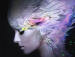 Обои Девушка с перьями на голове, by Soufiane Idrassi