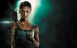 Обои Актриса Alicia Vikander / Алисия Викандер в образе Lara Croft / Лары Крофт, арт к фильму Tomb Raider / Расхитительница гробниц: Лара Крофт