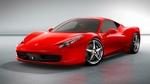 Обои Автомобиль Ferrari красного цвета