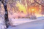 Обои Работа:Зимнее утро, фотограф Эдуард Гордеев