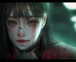 Обои Девушка с окровавленным лицом, by Shal. E