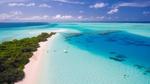 Обои Вид с беспилотника на отдыхающих людей у побережья экзотической природы, Maldives / Мальдивы, by 12019