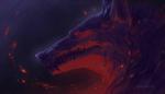 Обои Волк на темном фоне, by Demortum